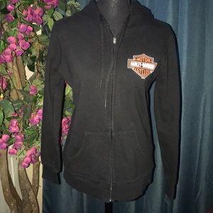 🖤 Harley Davidson black size S zip up 🖤